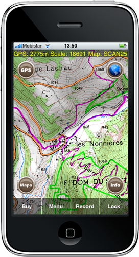 Geolives pour iPhone