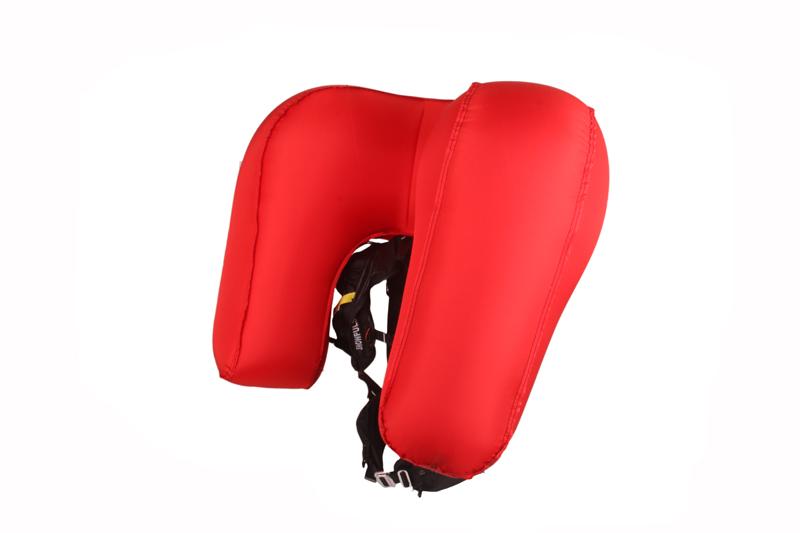 LifeBag déployé, 150L, protection tête et thorax