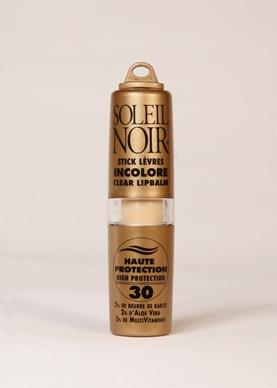 Soleil Noir Stick à lèvres incolore IP 30 haute protection
