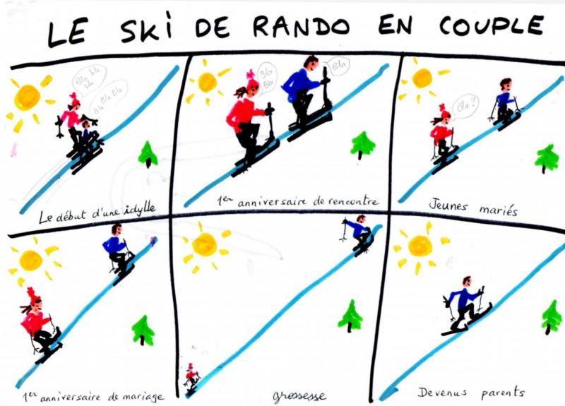 Le Ski De Rando En Couple Skitour